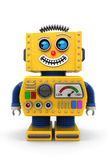 Toy robot looking to the left Royalty Free Stock Photos