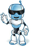 Toy robot mascot. Vector clip art illustration with simple gradients. Royalty Free Stock Images