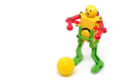 Toy Robot Are playing football Royalty Free Stock Photo
