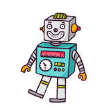 Toy robot,  on white Stock Images