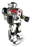 Toy Robot With Gun Fisheye Pic Royalty Free Stock Photo