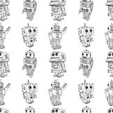 Toy robots pattern Royalty Free Stock Image