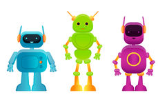 Toy robots set Royalty Free Stock Photos