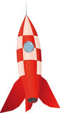 Toy rocket. It is red a pink toy rocket Stock Images