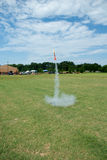 Toy rocket launching Royalty Free Stock Image