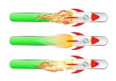 Toy rocket with Progress bar. A toy rocket with Progress bar Royalty Free Stock Photos