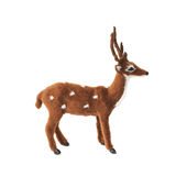 Toy roe deer fawn isolated Royalty Free Stock Photo
