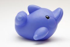 Toy rubber dolphin. On white background Stock Photo