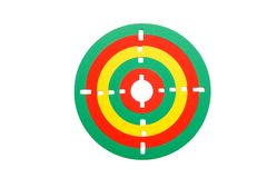 Toy rubber target isolated Royalty Free Stock Image