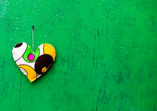 Toy's heart on the background Royalty Free Stock Photo