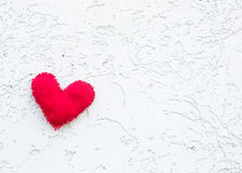 Toy's heart on the background Royalty Free Stock Image