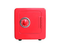 Toy Safe. Red toy safe with combination dial lock Stock Photo