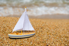 Toy sail boat Stock Image