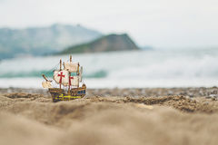 Toy sailboat Stock Image