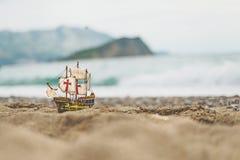 Toy sailboat Stock Image
