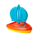 Toy Sailboat (clipping path) Stock Photos