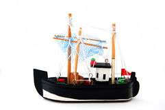 Toy sailing boat Stock Images