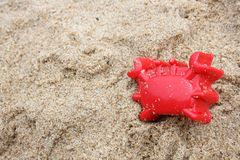 Toy on sand Royalty Free Stock Images