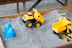 Toy in Sandbox Stock Photo