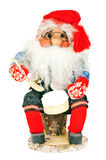 A toy Santa claus. Isolated on white background Stock Images