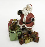 Toy Santa con i regali Fotografia Stock