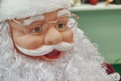 Toy Santa Face Portrait Imagen de archivo