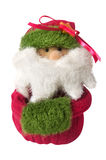 Toy Santa isolated Stock Image