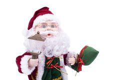 Toy Santa Klaus. With a lantern Royalty Free Stock Photography