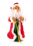 Toy Santa with lamp Royalty Free Stock Photos