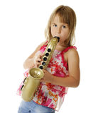 Toy Sax Player Stock Photography