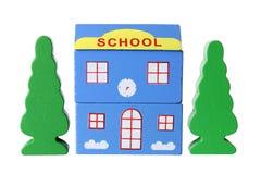 Toy School Building Stockbilder
