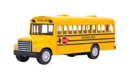 Toy School Bus isolated Royalty Free Stock Image
