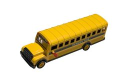 Toy School Bus Top Stock Photos