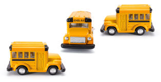 Toy School Buses Royalty Free Stock Images