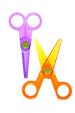Toy scissors Stock Photos