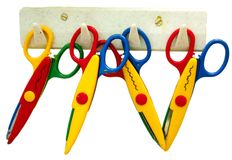 Toy scissors Royalty Free Stock Photography