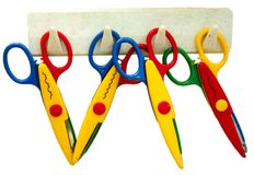 Toy scissors Royalty Free Stock Images