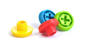 Toy screws Stock Photos