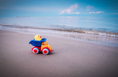 Toy at sea Royalty Free Stock Photo