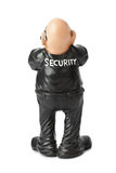 Toy security guard. Isolated on white background Royalty Free Stock Images