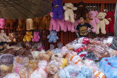 Toy seller Royalty Free Stock Photography