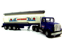 Toy semi truck with trailer Stock Photography