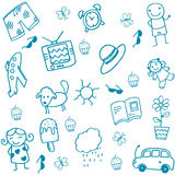 Toy set doodle art for kids Royalty Free Stock Photos