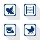 Toy set flat icon Royalty Free Stock Images