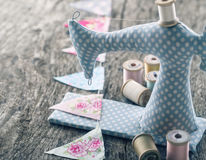 Toy sewing machine Royalty Free Stock Image