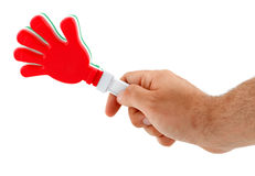 Toy in the shape of hand to make noise Royalty Free Stock Images