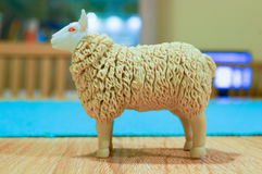 Toy sheep Stock Photo