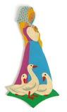Toy Shepherdess Stock Photo