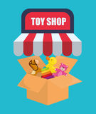 Toy shop design Royalty Free Stock Image