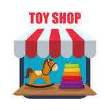 Toy shop design Stock Image
